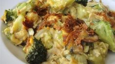 A creamy chicken and broccoli casserole with a hint of curry flavor has a topping of melted cheese and crisp corn flake crumbs for a dish even picky kids will enjoy. Use a store-bought roasted chicken to make it easy.