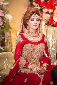Red Dulhan Maxi in Lahnga Shape.Bridal Lahnga Maxi With Pure Dabka Nagh Zari And Pearls Work.Walima Bridal And Groom Dresses Available In All Sizes. Pakistani Bridal Makeup, Pakistani Fashion Party Wear, Bridal Mehndi Dresses, Bridal Dress Design, Pakistani Wedding Dresses, Bridal Outfits, Indian Bridal, Wedding Dresses For Girls, Bridesmaid Dresses