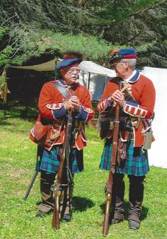 Scottish Soldiers in Camp