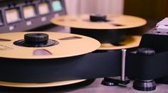 Slider shot of MCI 24 track analog tape machine with 2