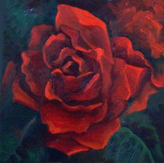 Rose 01, painting by artist Jeanie Schlump