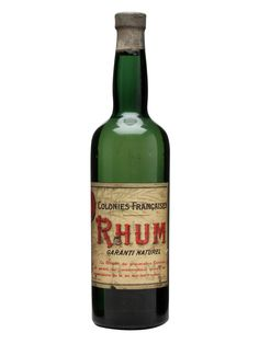 Colonies Françaises Rhum / Bot.1940s : Buy Online - The Whisky Exchange - An old bottle of agricole rhum produced in the French colonies of the Caribbean in the 1940s under the name 'Colonies Françaises'.
