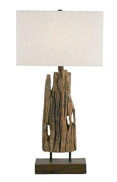 Castaways Weathered Driftwood Lamp