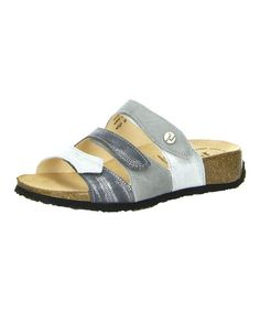 Look what I found on #zulily! Grau & Kombi Three-Strap Mizzi Leather Sandal by Think! #zulilyfinds