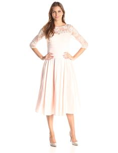 34c296fd12e9 AMAZON Jessica Howard Women's Lace Bodice Fit and Flare Tassara Fonseca  PRODUCT PAGE = https:
