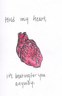 heart art doodles | ... art heart pierce the veil watercolor notes Caraphernelia human heart