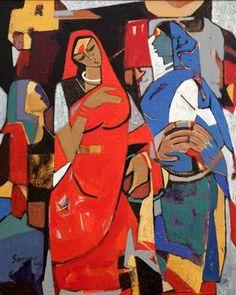 Online Art Gallery: Buy Indian Art Online, Paintings, Prints and Indian Artwork, Indian Folk Art, Indian Art Paintings, Modern Art Paintings, Indian Artist, Realistic Paintings, Om Namah Shivaya, Silk Painting, Figure Painting