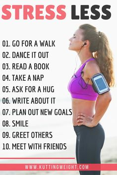 10 Ways to Stress LESS Heres some tips on how to relax instantly For more fitness tips exercises and more visit Weight Loss Water, Weight Loss Diet Plan, Fast Weight Loss, Weight Loss Program, Fat Fast, Stress Less, Dealing With Stress, Stress And Anxiety, Stress Free