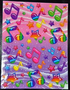 Lisa Frank Stickers Music Notes Stars Loved  these!