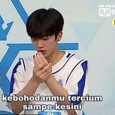 Produce x 101 Memes Funny Faces, Funny Kpop Memes, Cute Memes, Muslim Meme, Jung Jaewon, K Meme, Cinta Quotes, Meme Comics, Derp