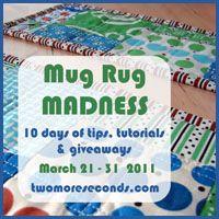 Mug Rug Madness - 10 days of tips and tutorials @ twomoreseconds.com