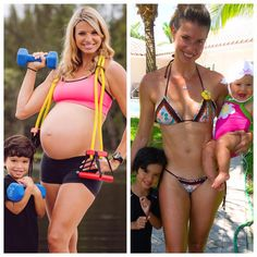 This mom did these pregnancy workouts and was able to even get abs after baby. These are the best pregnancy workouts I've seen on pinterest.