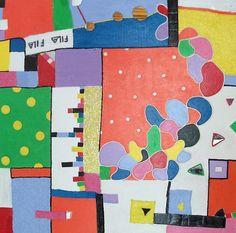 Vrij werk 8, schilderij van Anita Dielen   Abstract   Modern   Kunst