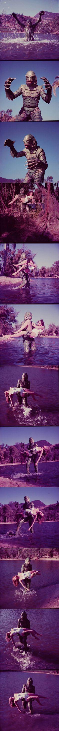 Secuencia de fotos de la revista LIFE sobre La mujer y el monstruo Life Magazine, Daenerys Targaryen, Horror, Game Of Thrones Characters, Films, Fictional Characters, Art, Monsters, Movies