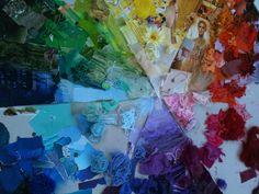A2 Textiles Colour Wheel in progress