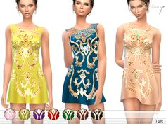 Silk Tulle Mini Dress by ekinege at TSR