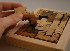 Natural Wood Puzzle Pentomino Wood Grain Edition.