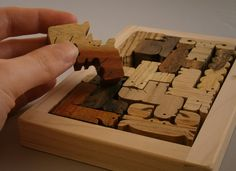 Natural Wood Puzzle Pentomino Wood Grain Edition.