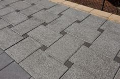 """interesting paving pattern - could use """"pockets"""" for plants or stones"""