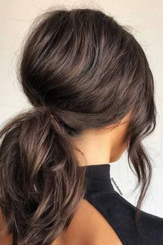 50 Gorgeous Ponytail Hairstyles to Update Your Updo Bouffant Puff Low Ponytail Hairstyle Medium Hair Ponytail, Low Ponytail Hairstyles, Wedding Hairstyles, Gorgeous Hairstyles, Simple Hairstyles, Bouffant Hair Updo, Hairstyles Medium Hair, Updos For Medium Hair, Hairstyle Ideas
