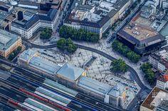 Hannover - Hauptbahnhof von oben © https://www.facebook.com/TCGib