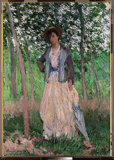 Claude Monet (French, 1840–1926). The Stroller (Suzanne Hoschedé, later Mrs. Theodore Earl Butler, 1868–1899), 1887. The Metropolitan Museum of Art, New York.
