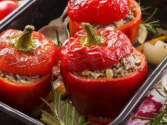 poivron, riz, champignon, oignon, échalote, Huile d'olive, persil, Poivre, Sel