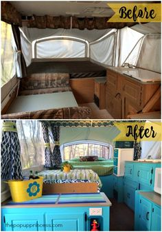 Amazing Glamper Camper, RVs are available in all shapes and sizes. You're in a position to transform the camper based on your requirements and let it be ideal for each and ev. Camper Diy, Popup Camper Remodel, Tent Campers, Camper Renovation, Camper Interior, Camper Hacks, Camper Remodeling, Retro Campers, Rv Hacks