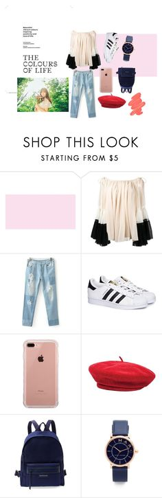 """""""Colours life"""" by dotslava29 ❤ liked on Polyvore featuring Chloé, adidas, Belkin, Brixton, Longchamp, Marc Jacobs, Obsessive Compulsive Cosmetics and umji"""