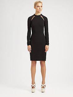 Stella McCartney Compact Jersey Cutout Dress