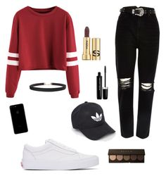 A fashion look from November 2016 featuring long sleeve polyester shirts, destroyed denim jeans and leather low top sneakers. Browse and shop related looks. River Island, Denim Jeans, Marc Jacobs, Fashion Looks, Vans, Adidas, Chic, Long Sleeve, Polyvore
