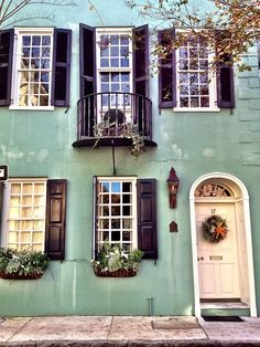Trendy Ideas For House Colors Exterior With Shutters Charleston Sc Exterior Design, Interior And Exterior, Future House, My House, Humble Abode, Historic Homes, Windows And Doors, Architecture, House Colors