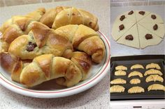 Sweet Buns, Sweet Pie, Greek Recipes, My Recipes, Nutella Recipes, Bread Cake, Bread And Pastries, Tasty Bites, Happy Foods