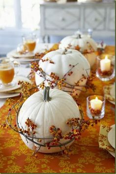 The Liberty Cottage : Indoor Fall Decorating, tablescape