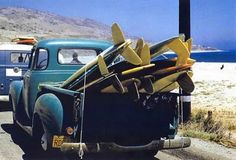 Surfing- the Tone's old truck, same color!