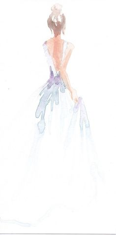 """Be an artist of consciousness. Your picture of reality is your most important creation. Make it powerfully profoundly beautiful"" - Sallymustang. Limited edition x 11 print of original watercolor fashion illustration by Carol Hannah. Watercolor Dress, Watercolor Fashion, Watercolor Drawing, Watercolor Print, Watercolor Illustration, Painting & Drawing, Watercolor Paintings, Watercolours, Illustration Mode"