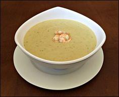 Sopa Creme de Grão de Trigo e Camarão