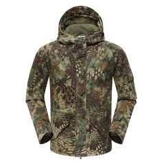 Mountainskin Tactical Insulated Jacket Camo - Men's is a windproof, warm and comfortable waterproof breathable tactical jacket, which provides military-grade protection. Fishing Outfits, Fishing Shirts, Camouflage Suit, Camouflage Clothing, Outdoor Coats, Outdoor Clothing, Outdoor Gear, Hunting Clothes, Hunting Gear