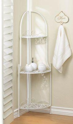 Lace Design Corner Shelf