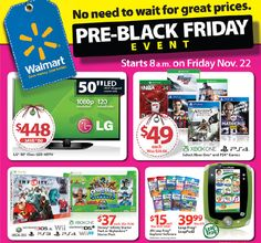 Walmarts Pre Black Friday Sale Ad Scan for Here it is! The Walmart Pre Black Friday Friday Sale! Sale runs Friday thru Wednesday Black Friday Sale Ads, Walmart Black Friday Deals, Black Friday 2013, Early Black Friday, Black Friday Shopping, Cyber Monday Deals, Best Android, Shopping Hacks