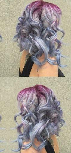 Pastel ombre gradient dyed hair color inspiration idea @xostylistxo