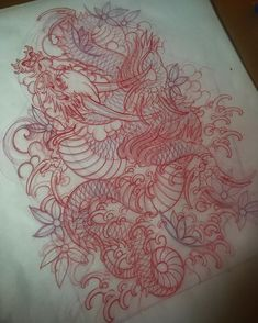 Traditional Tattoo Dragon, Traditional Japanese Dragon, Traditional Japanese Tattoo Flash, Traditional Tattoo Design, Japan Tattoo Design, Japanese Tattoo Designs, Japanese Tattoo Art, Dragon Tattoo Drawing, San Diego Tattoo Artists