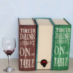 Serve your favourite boxed wines in these fun and vibrant wine box cover ups.. Perfect for party season! We have the'Time To Dance' Wine Box Cover Upavailable in blue, green and brown and all feature the quote 'Time to Drink wine and Dance on the table.'The box can easily be transported to events meaning no more smashed bottles and having wine on the tap can add that extra element of fun!A great gift for wine lovers.