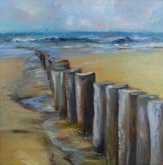Piles beach Dishoek, 20 x 20 x 2 cm on sale for euro 65.00 + shipping -Joke Klootwijk