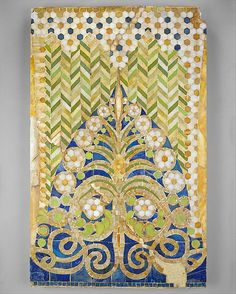 Mosaic Panel Designed by Louis Comfort Tiffany  (American, New York City 1848–1933 New York City) Medium: Favrile glass