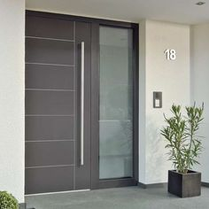 Swing entry door / wooden / acoustic / semi-glazed WL1 DUOLINE egoKiefer