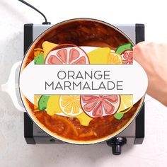 My orange marmalade recipe is made with ordinary oranges and lemons, and it's as unfussy as it is delicious. Every sunshiny spoonful makes your morning toast sp Fruit Preserves, Fruit Jam, Homemade Orange Marmalade Recipe, Orange Jam, Charcuterie, Xmas Food, Christmas Breakfast, Jam Recipes, Gourmet Desserts