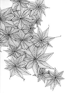 Zentangle - This would be a beautiful Christmas card.