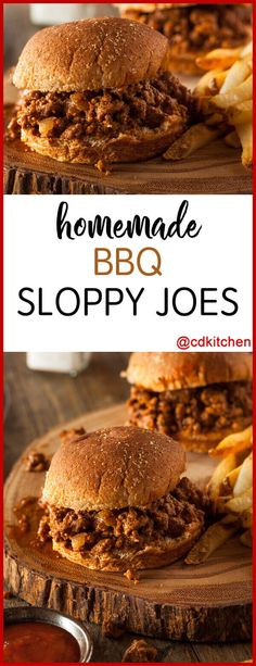 Homemade BBQ Sloppy Joes - Sloppy joes make a quick easy dinner Try this popular tangy bbq version Made with ground beef onion brown sugar prepared mustard barbecue sauce ketchup hamburger buns Barbecue Sloppy Joe Recipe, Homemade Sloppy Joe Sauce, Beef Barbecue, Homemade Bbq, Barbecue Sauce, Barbecue Recipes Hamburger, Easy Sloppy Joe Recipe With Bbq Sauce, Homemade Sloppy Joe Recipe Brown Sugar, Bbq Beef Crockpot
