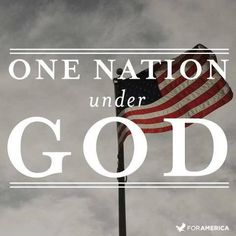 """""""If we ever forget that we are 'One Nation Under God,' then we will be a nation gone under. Without God, democracy will not and cannot long endure. I believe with all my heart that standing up for America means standing up for the God who has so blessed our land. We need God's help to guide our nation through stormy seas. But we can't expect Him to protect America in a crisis if we just leave Him over on the shelf in our day-to-day living."""" –President Ronald Reagan"""